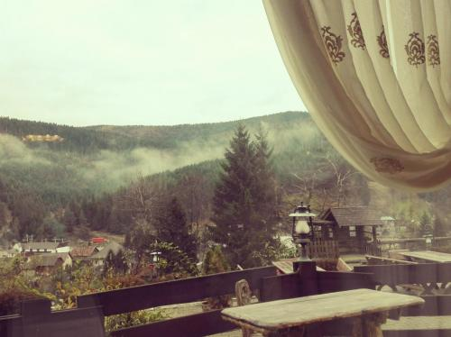 Breakfast view at Voroneț - waiting for the coffee